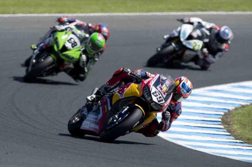 WSBK: Хейден - Honda теряла преимущество на главной прямой Phillip Island