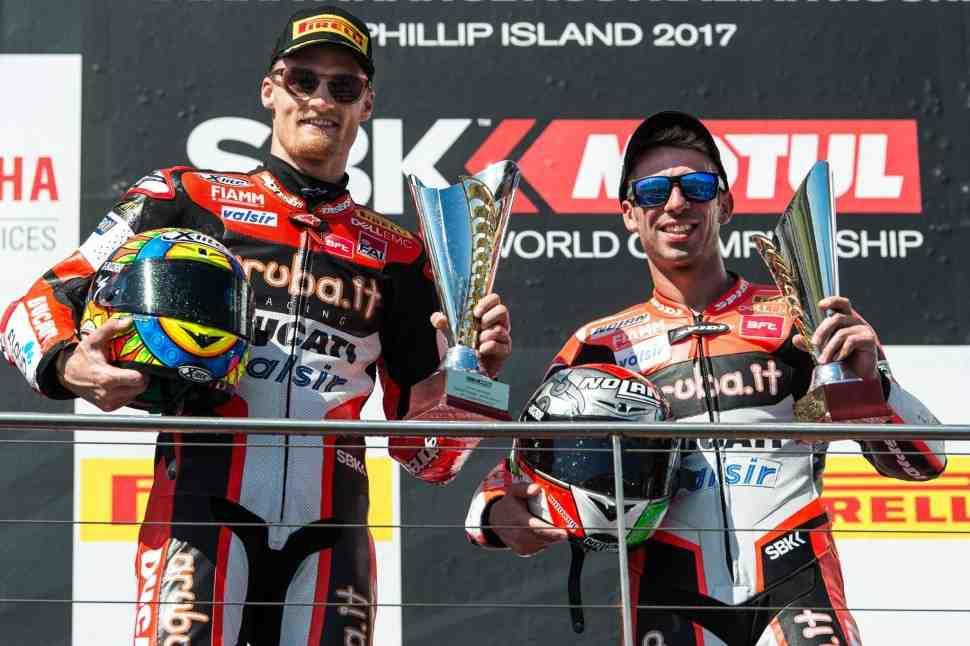 WSBK: Ducati начинает сезон с двойного подиума