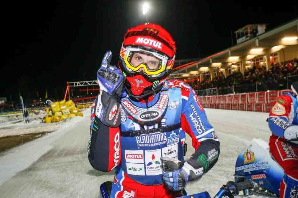 Дмитрий Колтаков укрепляет лидерство в FIM Ice Speedway Gladiators 2017
