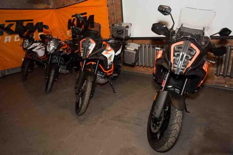 Российская презентация новых KTM 1290 Super Adventure и KTM 1090 Adventure
