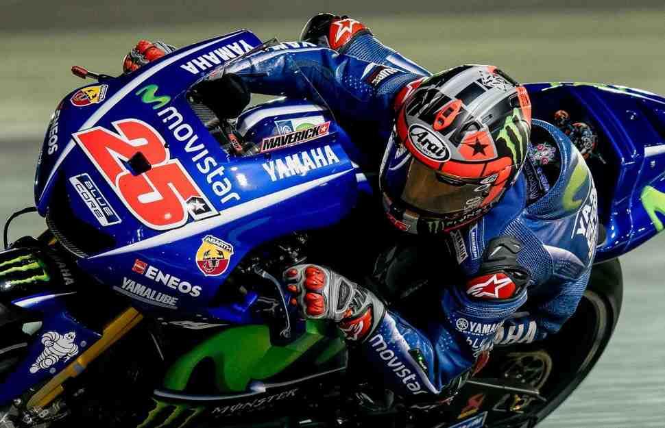 MotoGP QatarGP FP1: Виньялес ставит рекорд круга, а Honda теряет двигатель