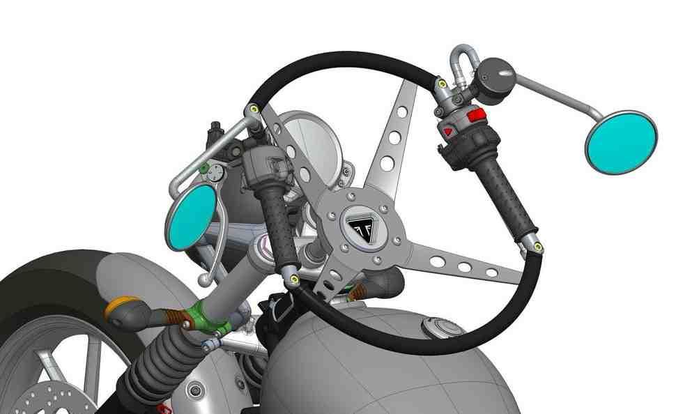 Triumph представил аксессуар - автомобильный руль для... мотоцикла