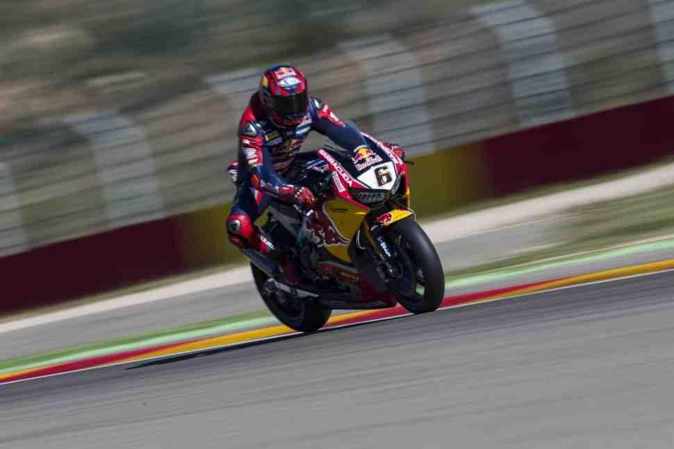 WSBK: Red Bull Honda - значительное улучшение и много позитива от тестов в Арагоне
