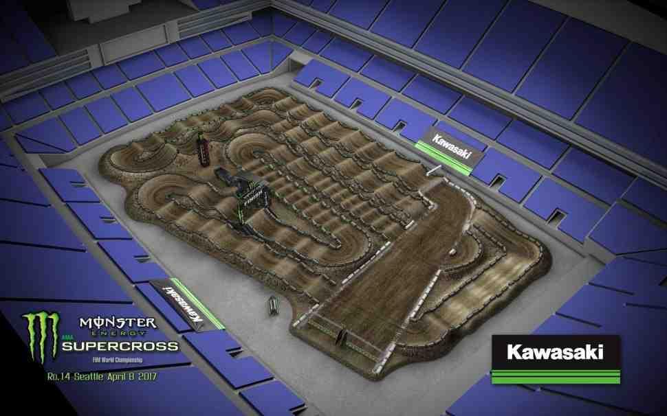 Супекросс: анимация трека 14 этапа чемпионата Мира/Америки