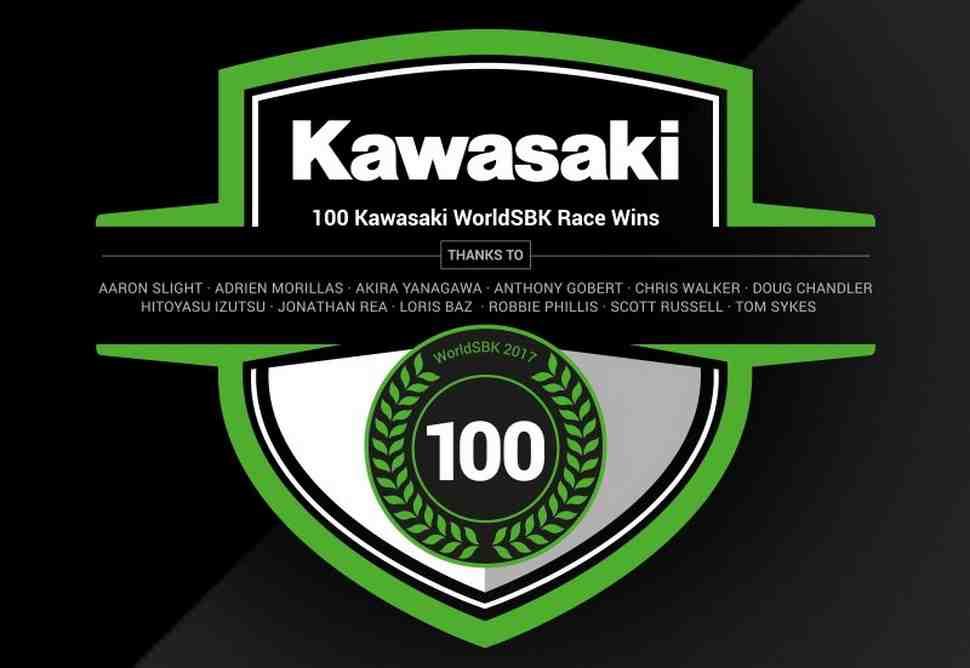 История: 100 побед Kawasaki в World Superbike