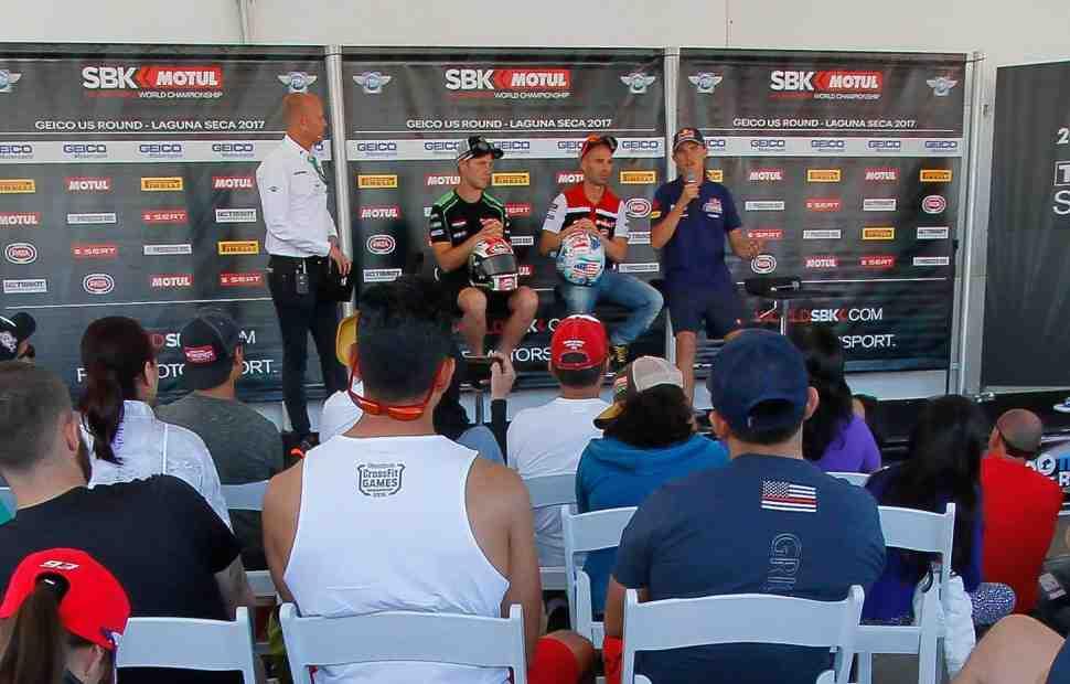 WSBK: FP3 подтвердила высокую скорость Kawasaki, Ducati и Aprilia на Laguna Seca