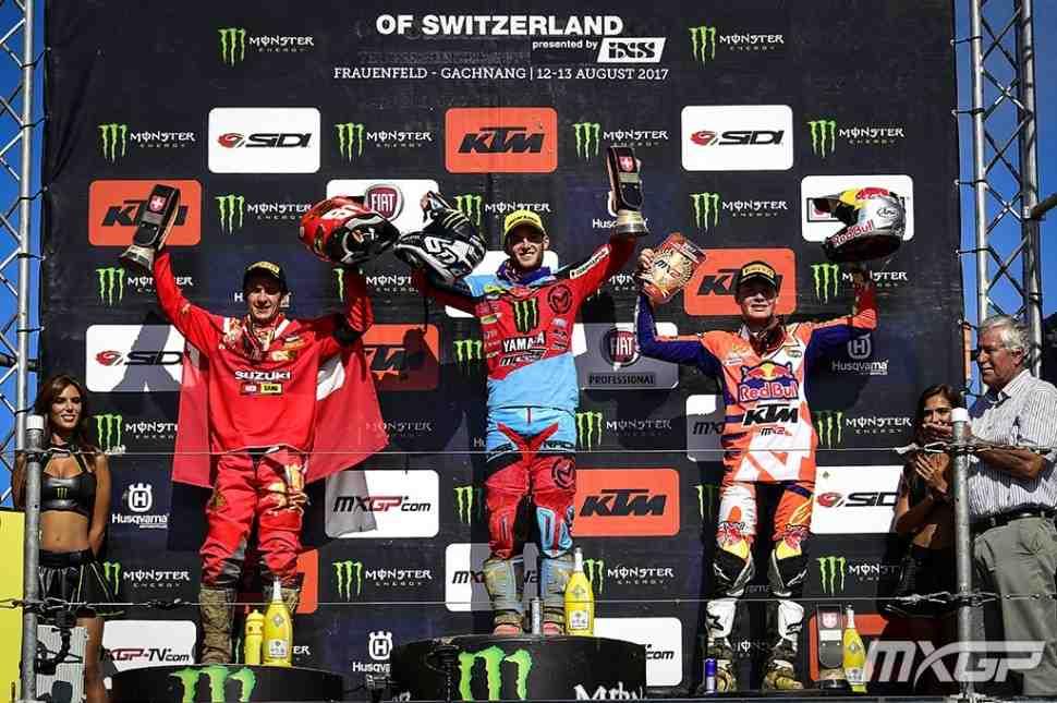 Мотокросс: результаты Гран-При Швейцарии MXGP/MX2