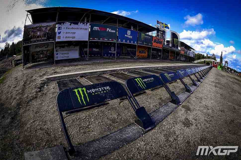 Мотокросс: круг по трассе Гран-При Швеции MXGP - Uddevalla, видео