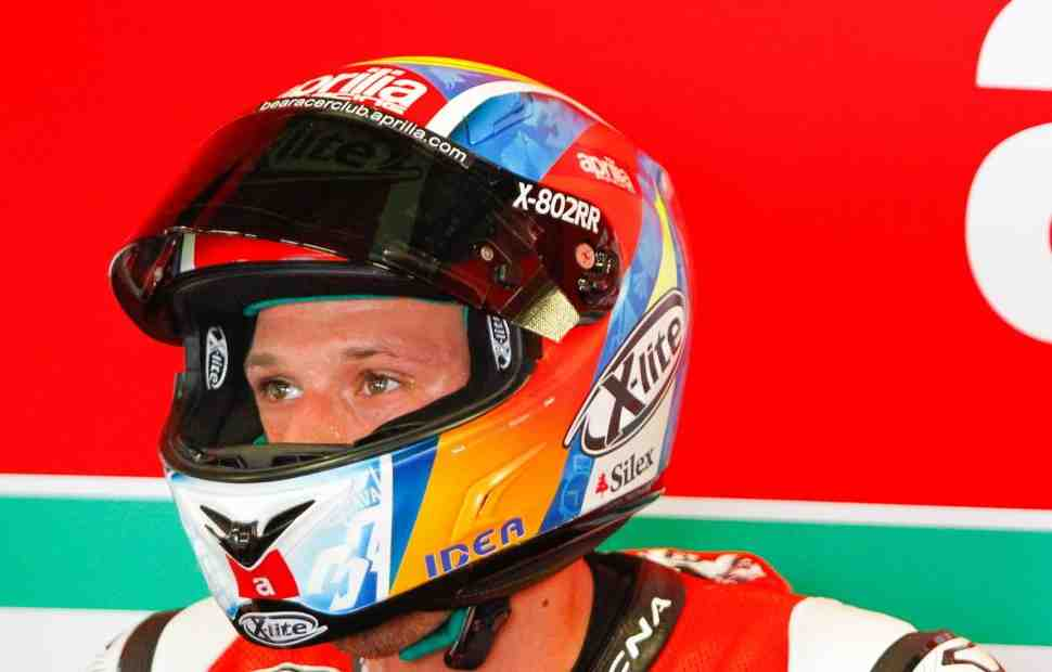WSBK - MotoGP: Лоренцо Савадори испытал Aprilia RS-GP в Мизано