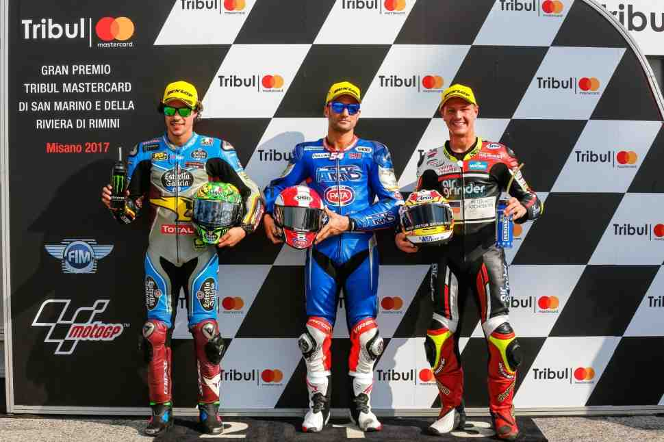 Moto2: Поул-ситтер Гран-При Сан-Марино - Пасини поедет в шлеме Марко Симончелли