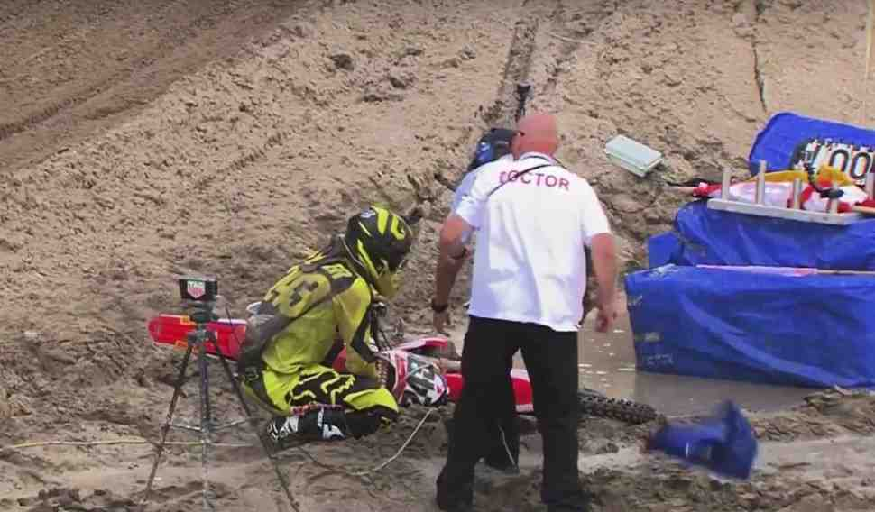 Мотокросс MXGP: видео инцидента с Тимом Гайзером на Гран-При Нидерландов