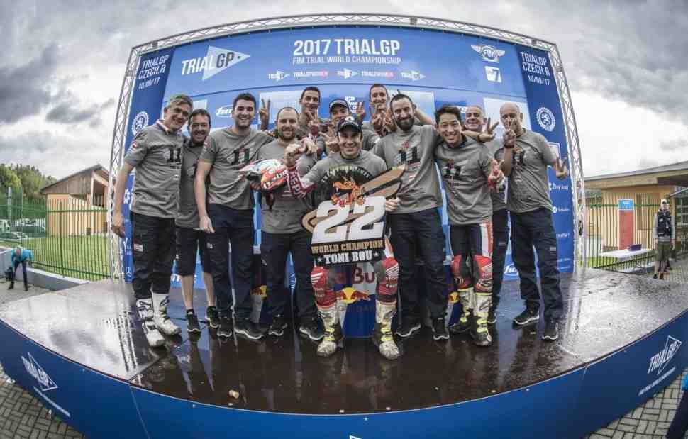 TrialGP: Тони Боу выиграл 11-й мировой титул по мототриалу подряд вместе с Honda