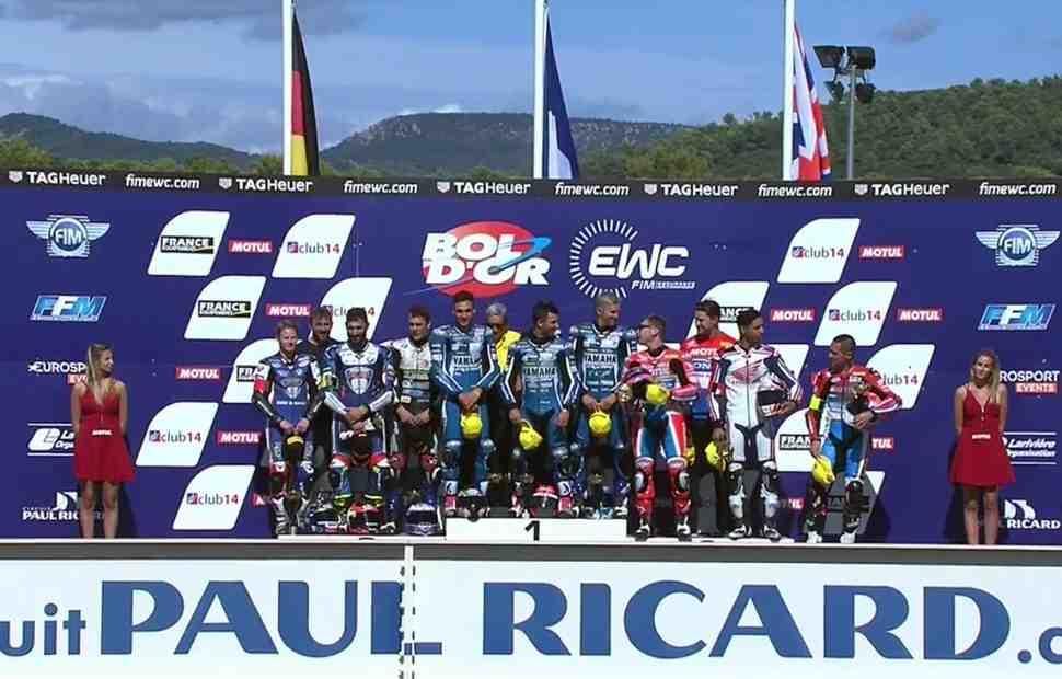 EWC: GMT94 Yamaha, penz13 и Honda Endurance Racing на подиуме Bol d′Or