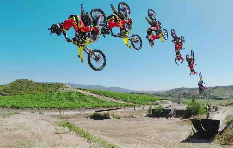Мотофристайл: Видео - Нейт Адамс и его Honda CRF450