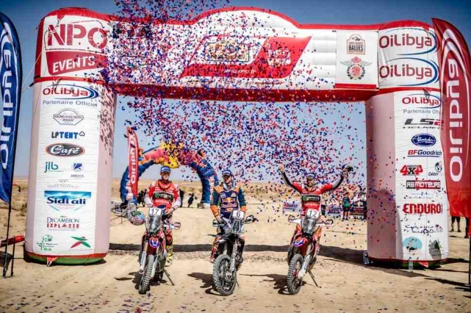 Итоги FIM Cross-Country Rallies: KTM, Husqvarna и Honda едут на Дакар-2018 с равными шансами