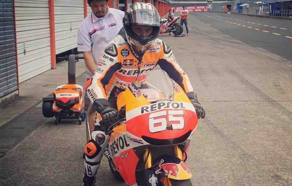 MotoGP: Лорис Капиросси воплотил свою мечту и проехал на Honda RC213V Маркеса