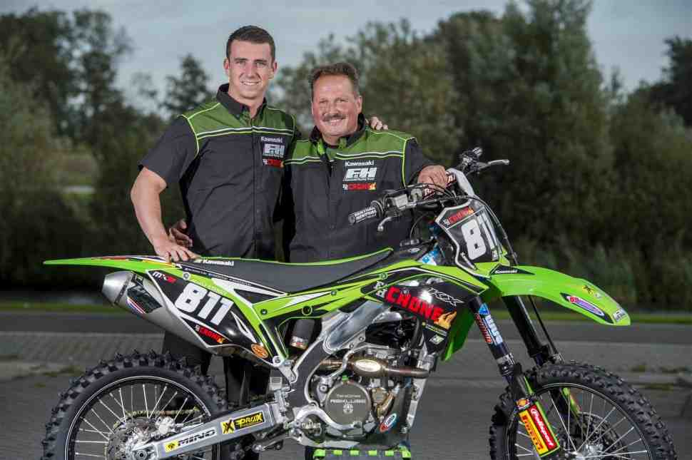 Мотокросс MX2: Адам Стерри подписал контракт с F&H Kawasaki Racing