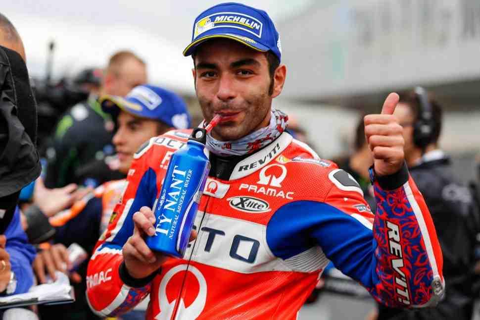 MotoGP: Петруччи - Слики на мокром треке - не слишком хорошая идея