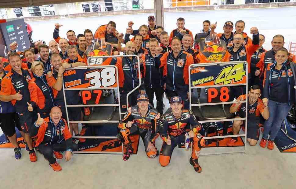 Лучшая квалификация KTM в MotoGP: пилоты завода начнут Гран-При Японии с 3-й линии