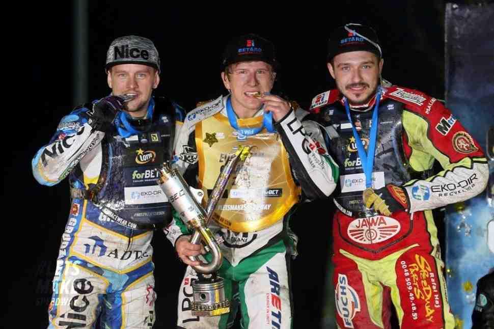 Артем Лагута - серебряный призер, Андрейс Лебедевс - Чемпион Европы по спидвею