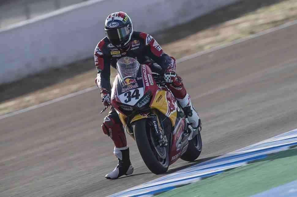 WSBK: Рэй возглавил этап в Хересе, напарники Red Bull Honda за бортом