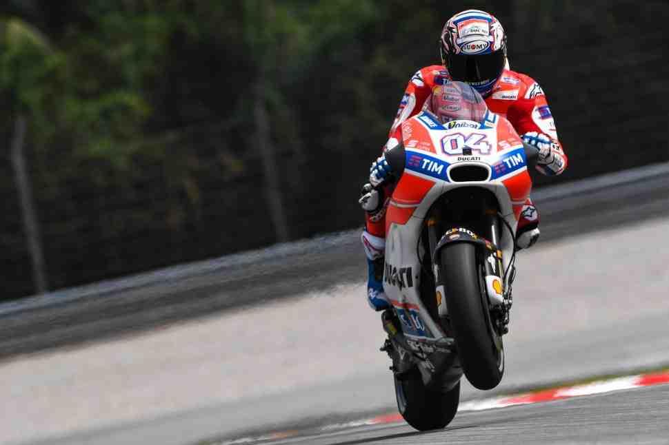 MotoGP: Довициозо возглавил обе пятничные практики в Сепанге - под дождем и посуху