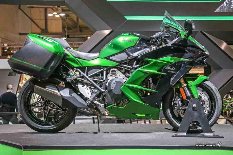EICMA-2017: Kawasaki Ninja H2 SX - В Альпы на второй космической скорости