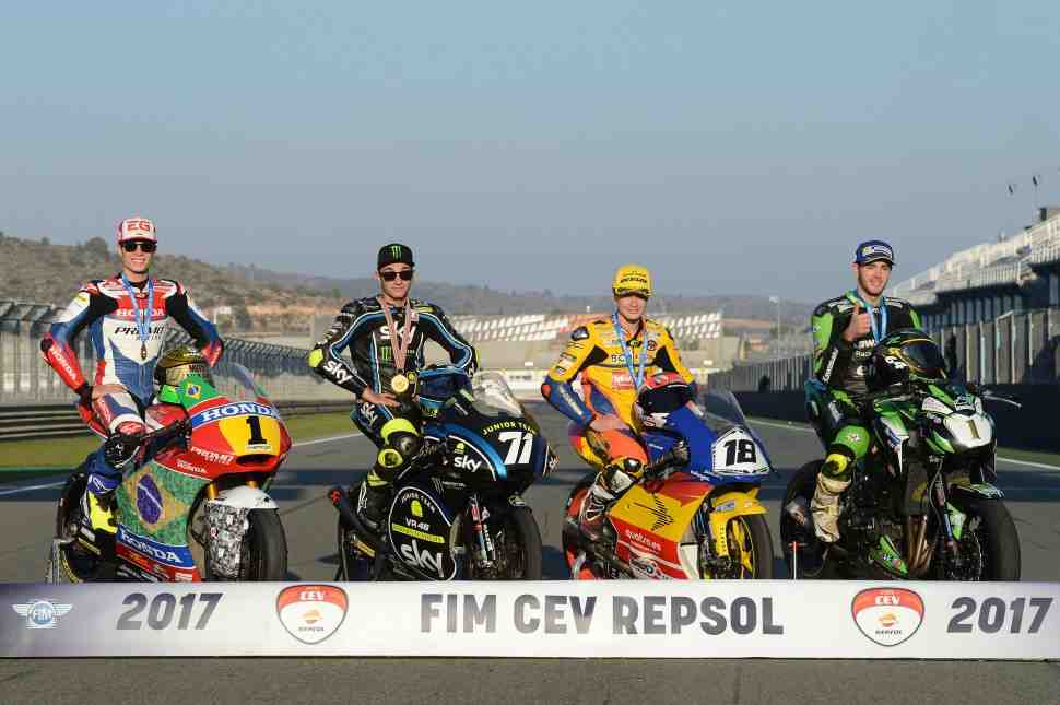 Названы призеры юниорского чемпионата мира Moto3 и чемпионата Европы Moto2