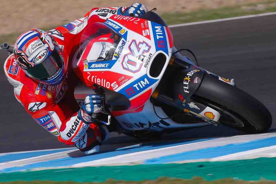 Довициозо, Кратчлоу и Лоренцо завершили тесты MotoGP внутри рекорда круга