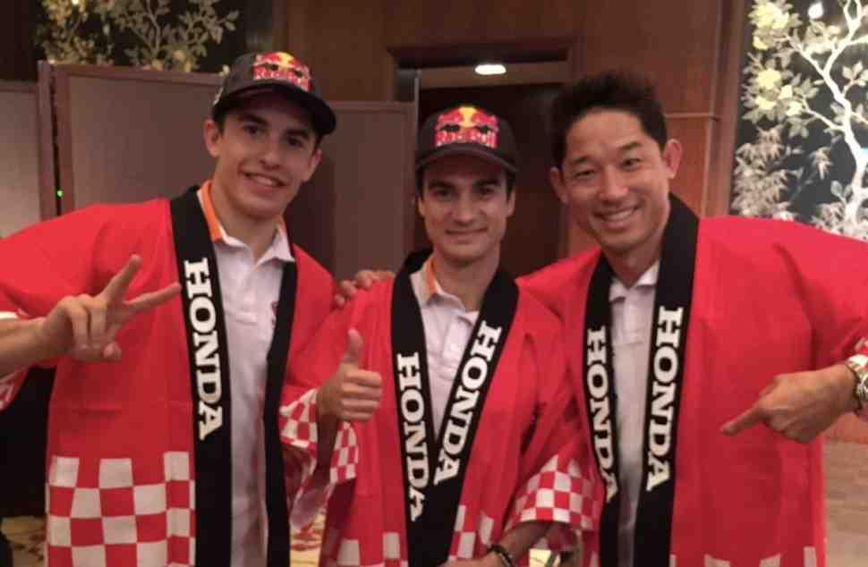 MotoGP: Дани Педроса и Марк Маркес на Дне благодарения Honda
