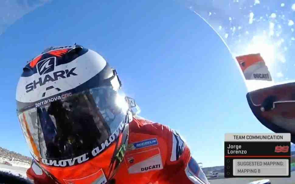 Телезрители увидят всю «переписку» команд и Дирекции MotoGP с пилотами в ходе гонок