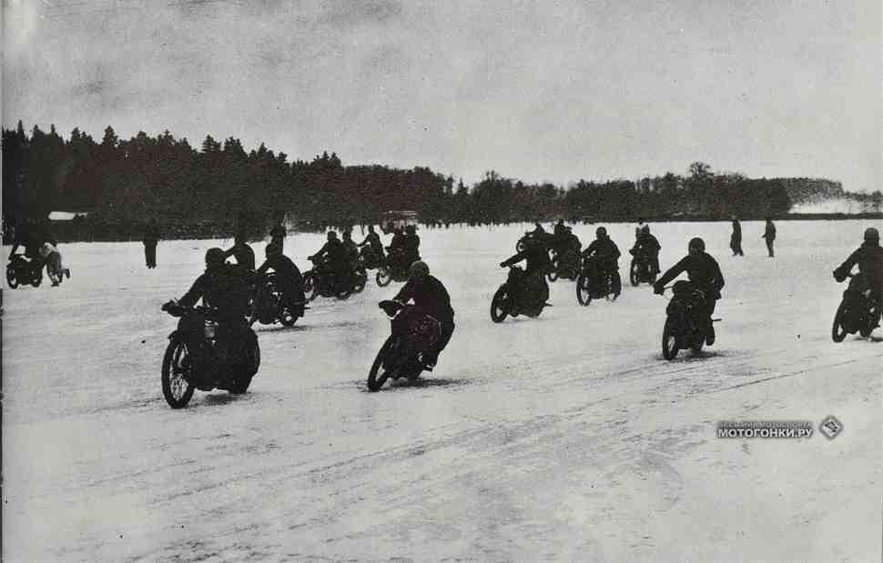 История мотогонок на льду: лихие 30-е