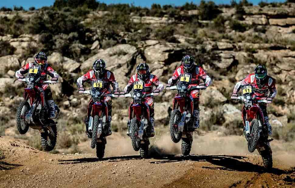 Monster Energy Honda: пять заводских CRF450 Rally в битве за Дакар-2018