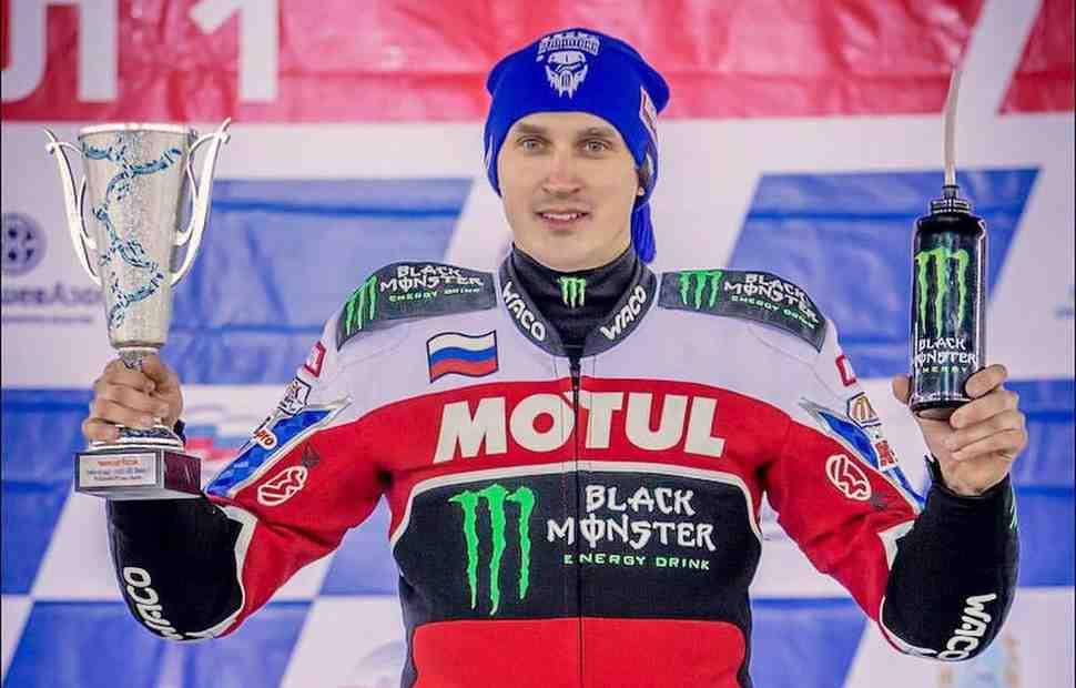 Дмитрий Колтаков - чемпион России по мотогонкам на льду 2018 года