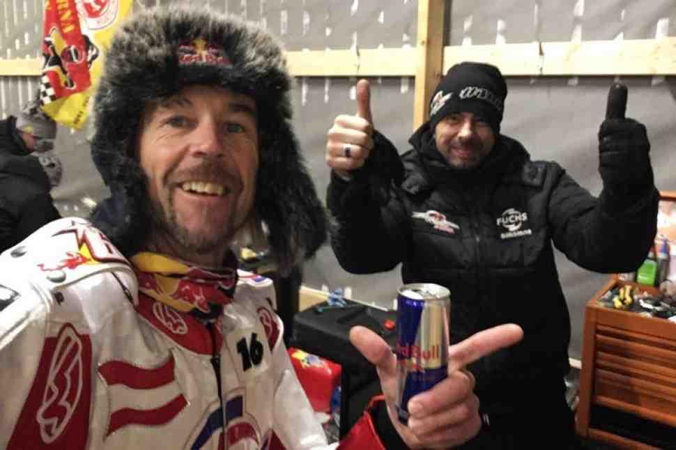 Ice Speedway Gladiators - Генеральная репетиция: Франц Цорн выиграл Eisspeedway Weissenbach