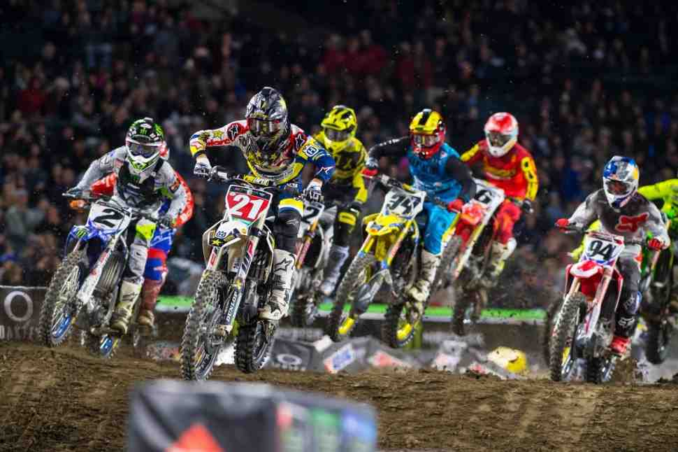 AMA Supercross: Triple Crown - Anaheim 2 - Видео всех гонок 450SX