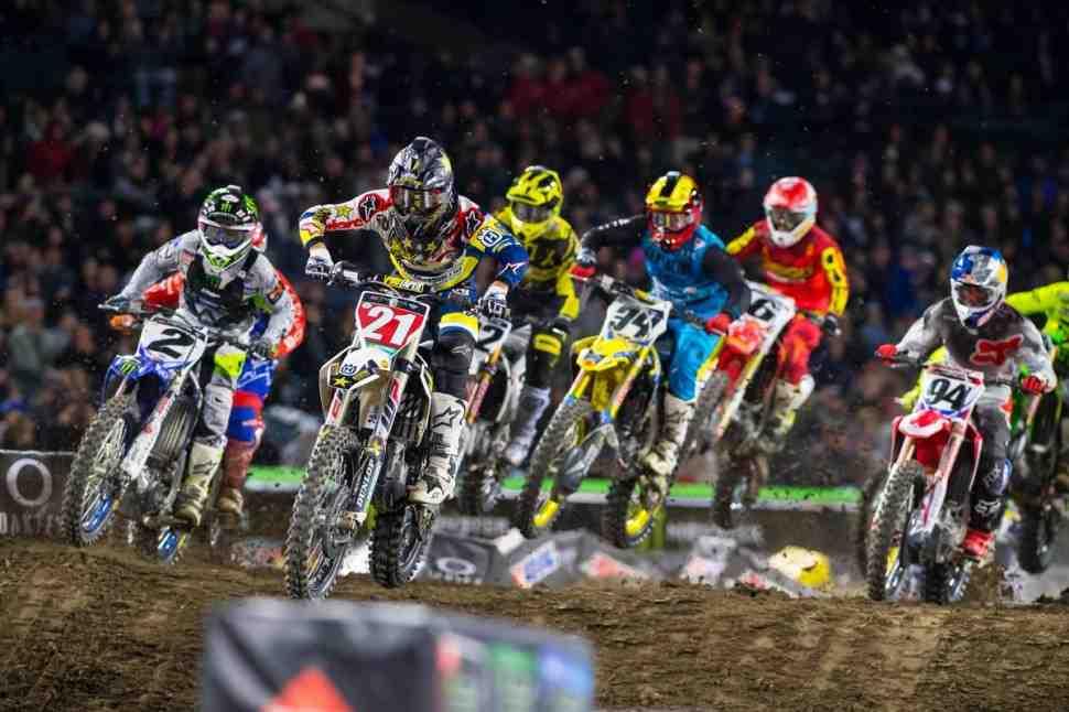 AMA Supercross: Triple Crown - Anaheim 2 - Видео всех гонок 450SX