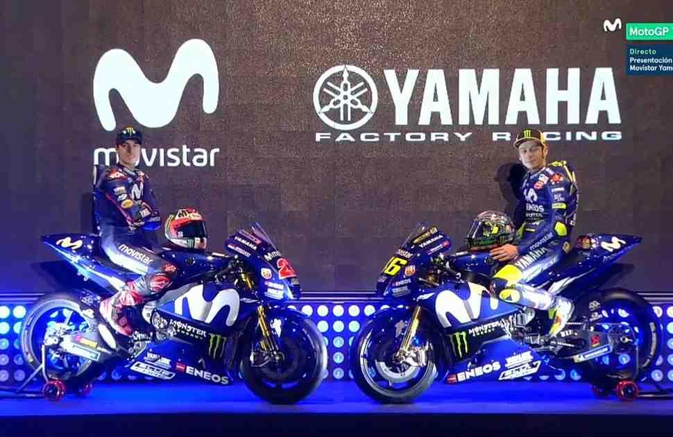 Видео: презентация Movistar Yamaha MotoGP - Валентино Росси и Маверик Виньялес 2018