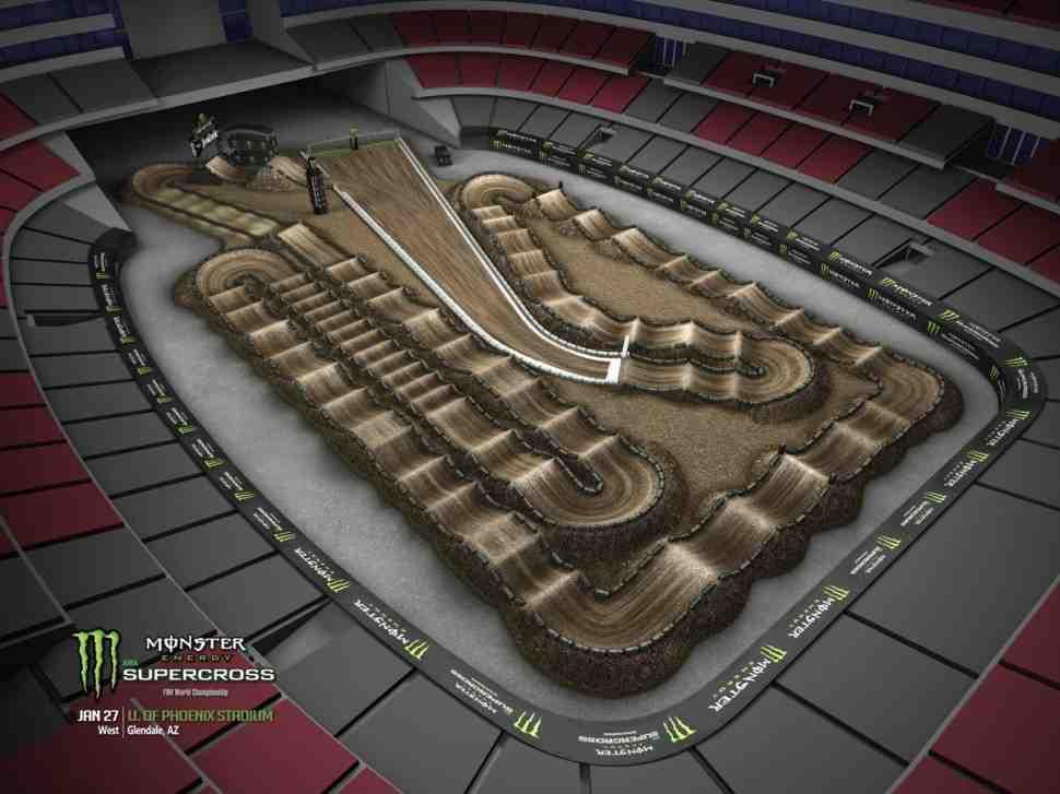 Суперкросс: анимация трека 4-го этапа Чемпионата Мира/AMA 2018 - Phoenix
