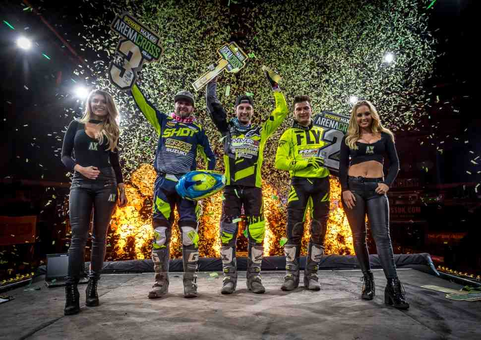 Евгений Бобрышев на подиуме: 4-й этап Arenacross World Tour - THE SSE ARENA