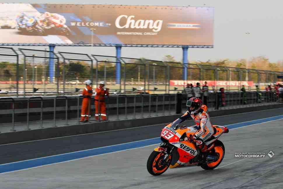 Более 5000 зрителей пришли посмотреть на тесты MotoGP ThaiTest в Бурираме