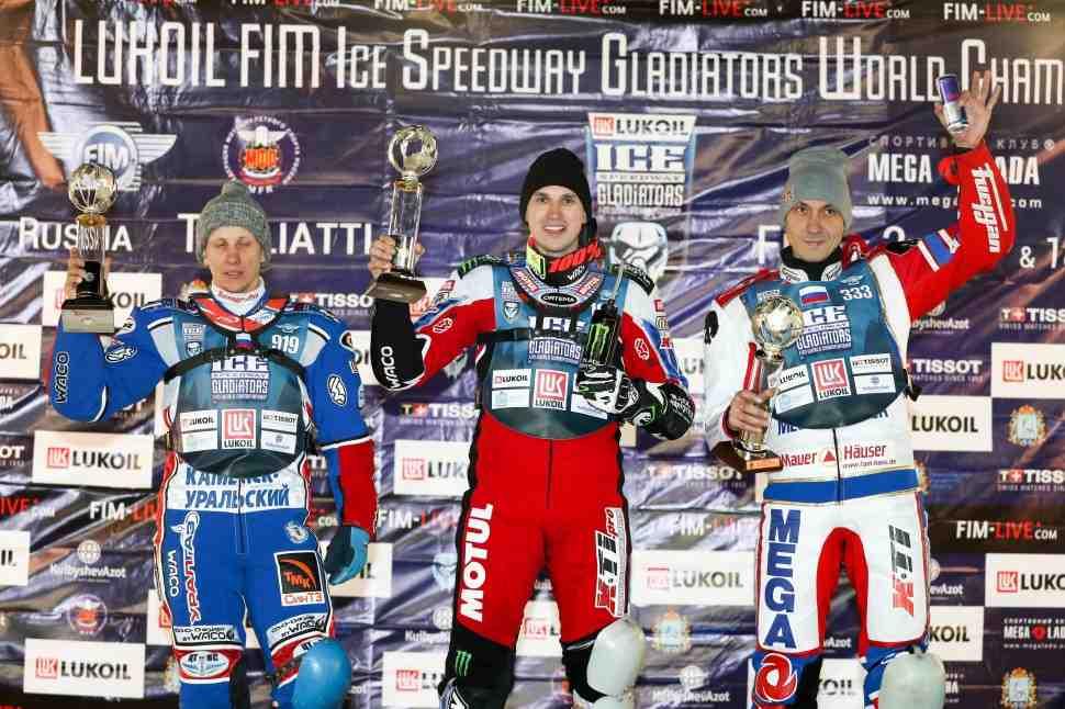 Дмитрий Колтаков доминирует в Тольятти: итоги 3 финала FIM Ice Speedway Gladiators