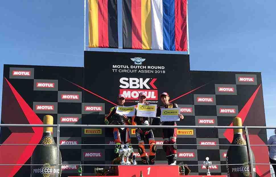 Российский флаг над TT Circuit Assen: Артем Мараев на подиуме KTM ADAC Junior Cup