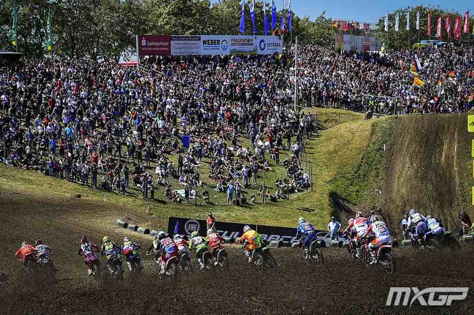 Мотокросс: FOX Holeshot - крупным планом старты Гран-При Германии MXGP