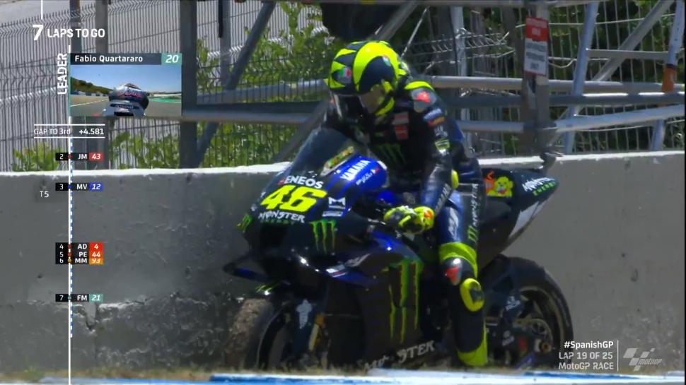 MotoGP: Валентино Росси объяснил свой сход на SpanishGP