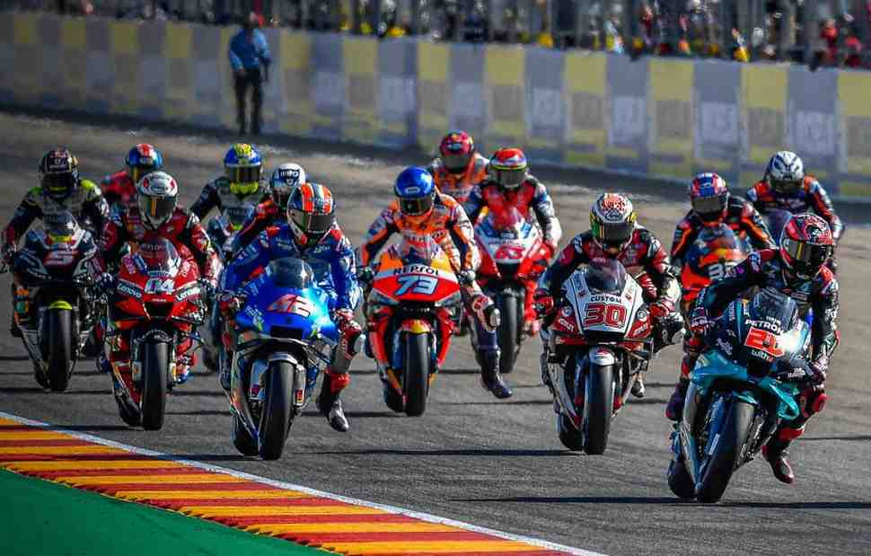 Несмотря ни на что: финиш Гран-При Арагона 2020 стал одним из самых близких в истории MotoGP