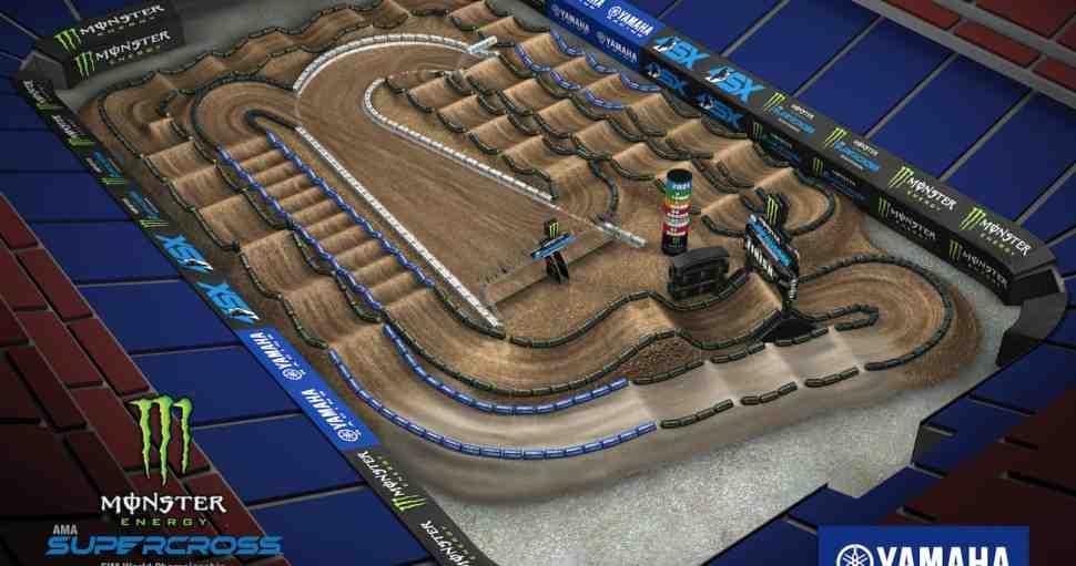 AMA Supercross: анимация трека 3-го этапа в Хьюстоне
