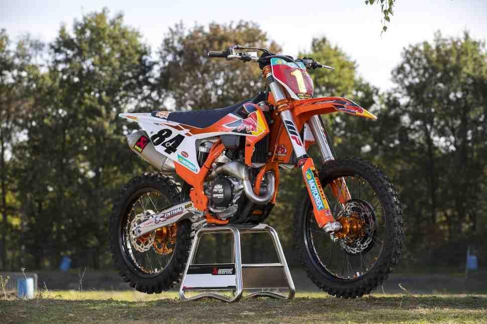 KTM выпустит реплику мотоцикла 450 SX-F чемпиона Мира MXGP Джеффри Херлингса