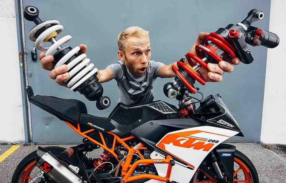 Видео: как прокачать KTM RC200 для стантрайдинга