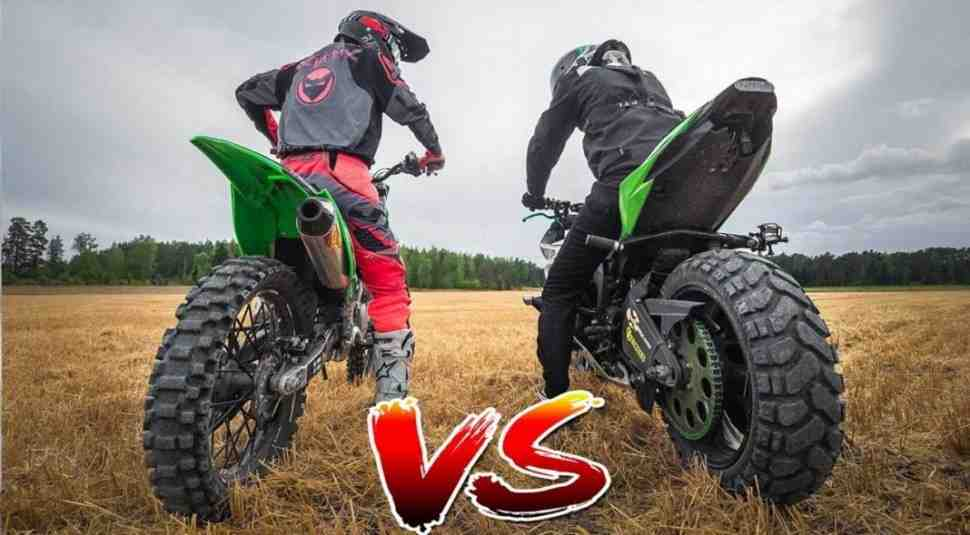 Кто кого? DIRTBIKE vs STREETBIKE 2.0 - видео